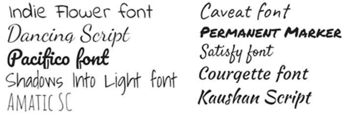 Best Google Fonts for Handwriting