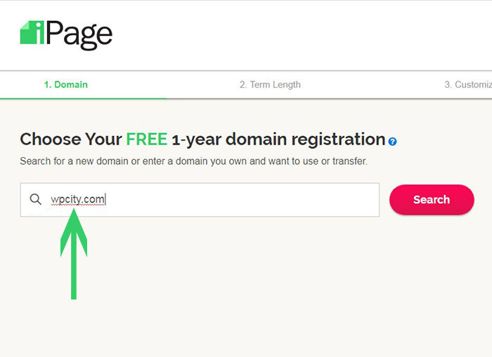 domain registration in ipage