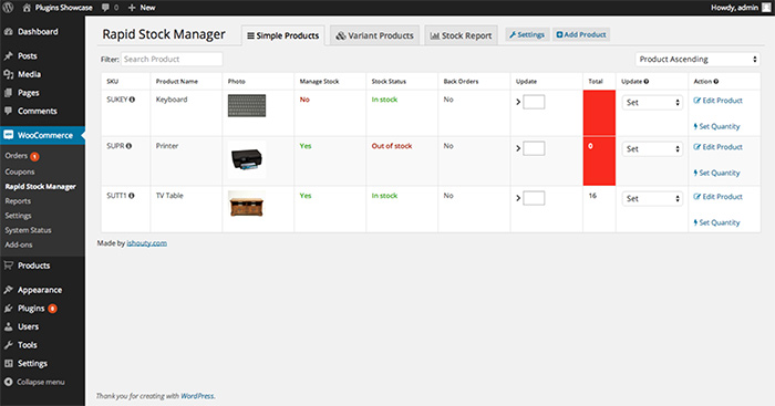 woocommerce rapid stock manager
