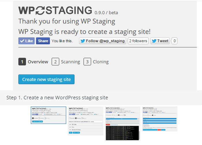 wpstaging staging sites