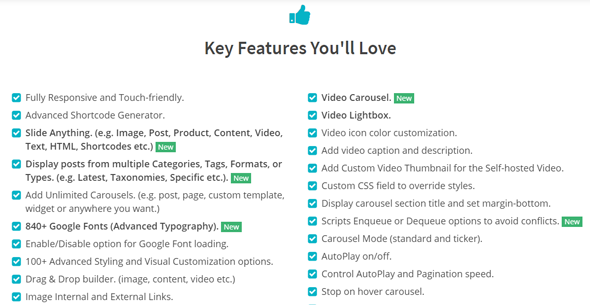 Carousel Pro best smart image slider plugin Features and Benefits