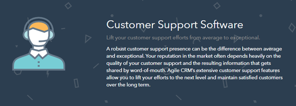 agile crm customer support