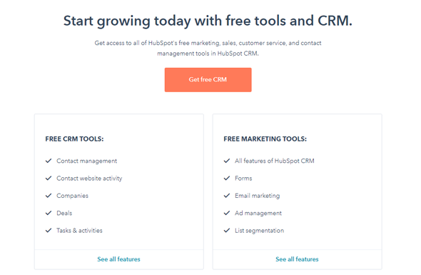 HubSpot CRM Pricing