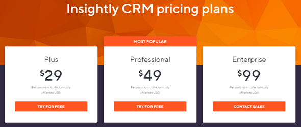 crm pricing plans