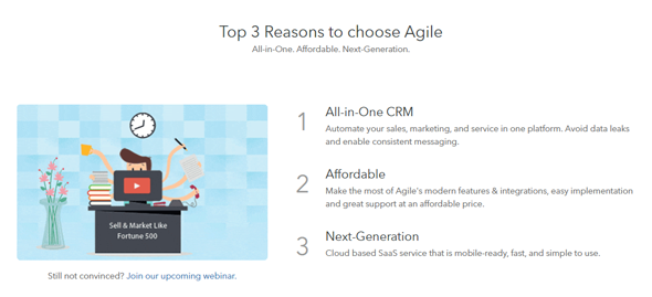 agile crm best suited for