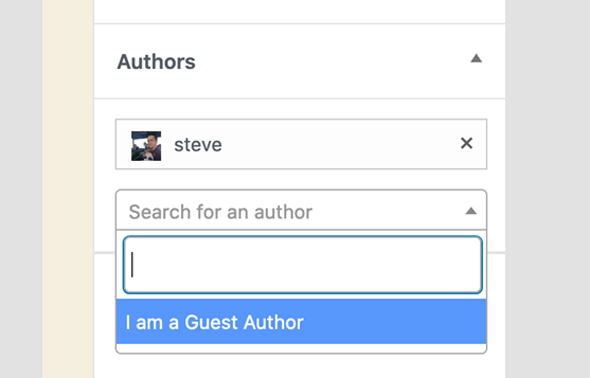 add and remove authors