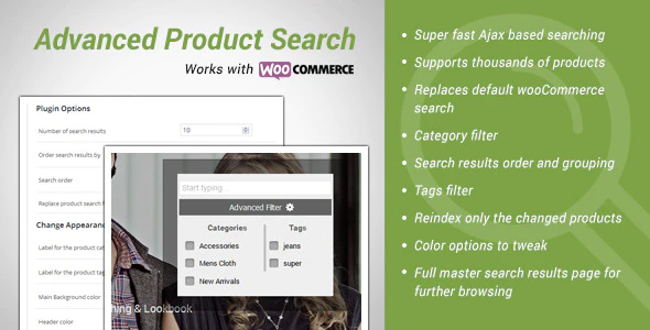 Advanced Product Search for WooCommerce Plugin