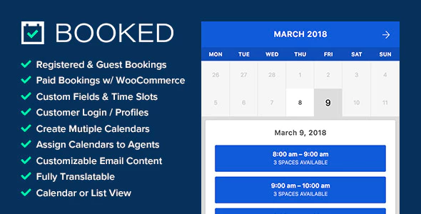 booked appointment booking for wordpress plugin