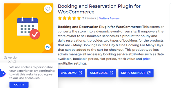 booking and reservation plugin for woocommerce