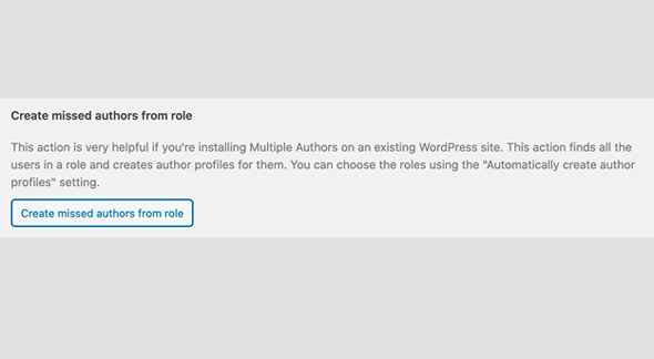 create missed author from role
