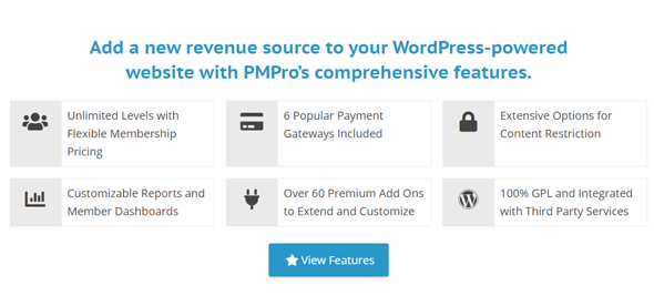 featured and benefits of paid membership plugin