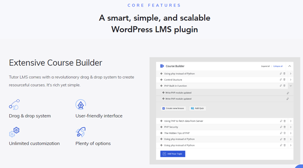 Tutor LMS plugin Features and Benefits