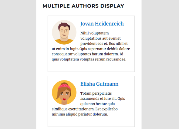 multiple authors display