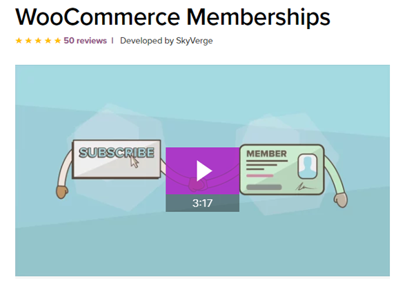 overview of WooCommerce Memberships