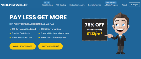 overview of youstable web hosting