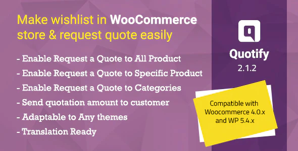 quotify woocommerce request a quote wordpress plugin