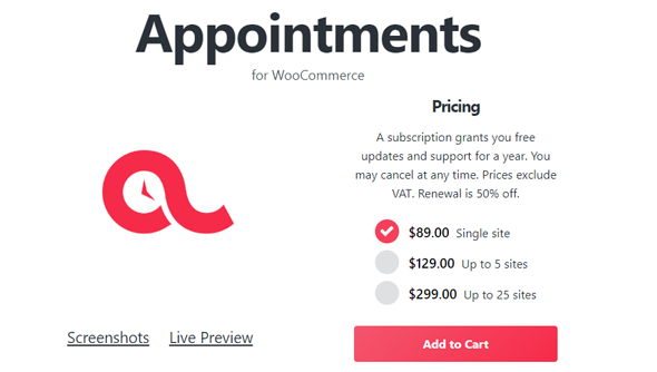 WooCommerce Appointments Plugin