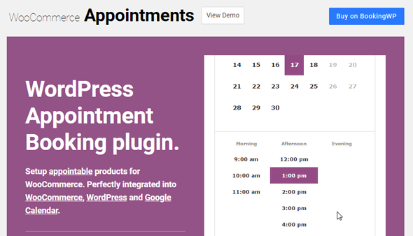 woocommerce appointments wordpress booking plugin