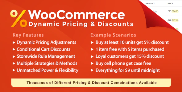 WooCommerce dynamic pricing and discounts plugin
