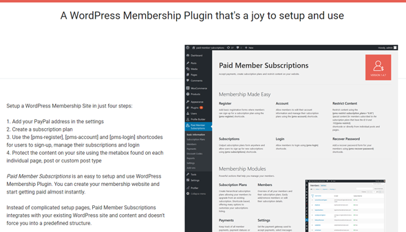 wordpress paid member subscriptions plugin setup