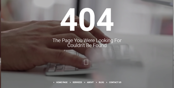 404 page elementor template