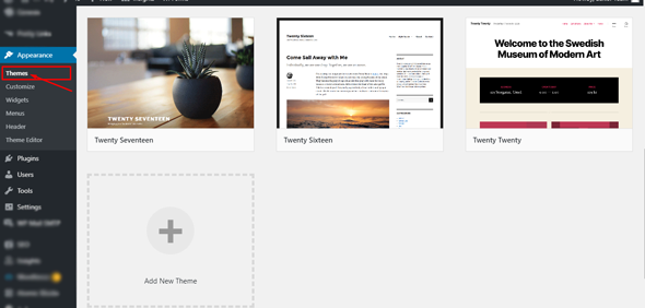 add new wordpress theme from wordpress dashboard