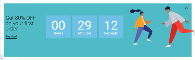 design the countdown popup