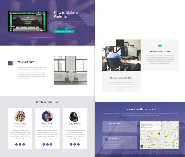 elementor final template on a live web page