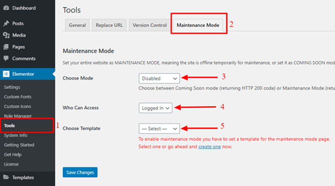 elementor maintenance mode for under construction page