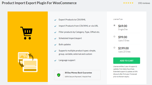 product import export for woocommerce plugin