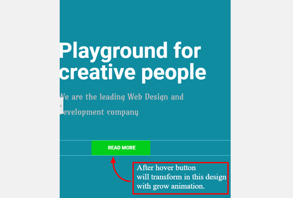 style hover button in page builder