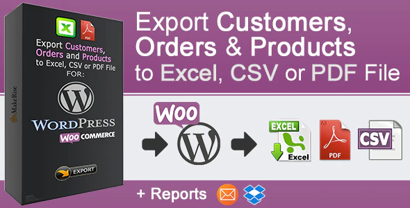 woocommerce orders and products export plugin