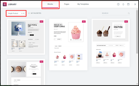 woocommerce single blog post in elementor