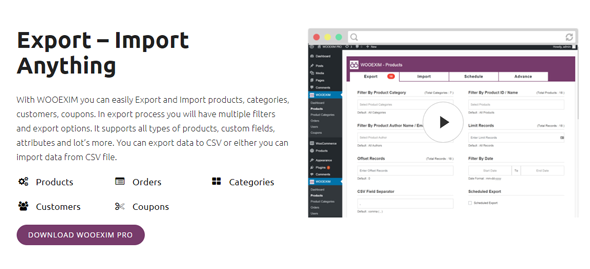 wooexim woocommerce product import and export plugin