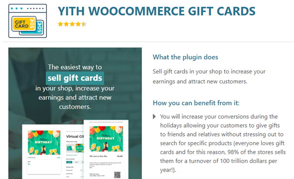 YITH WooCommerce Gift Cards Plugin