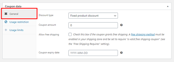 add coupon data in woocommerce