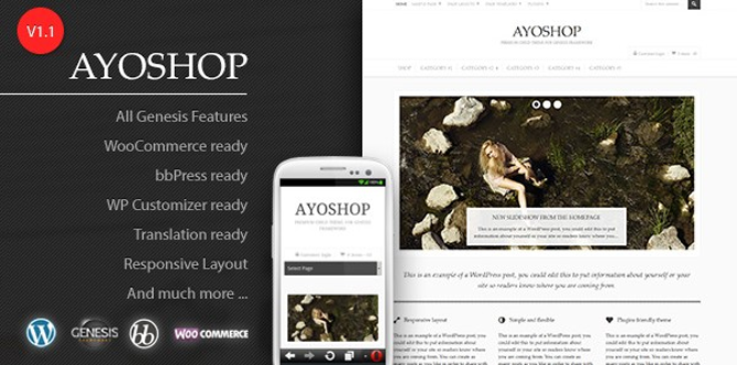ayoshop genesis child theme