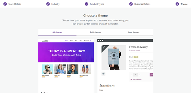 choose woocommerce theme for woocommerce store