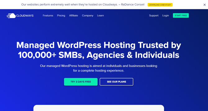 cloudways managed wordpress hosting