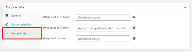 coupon usage limit in woocommerce plugin