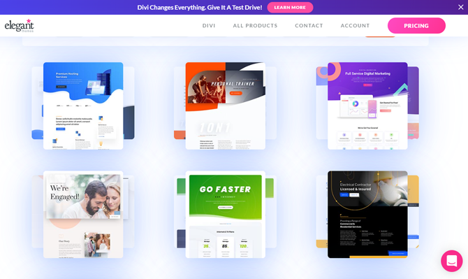 divi templates and modules
