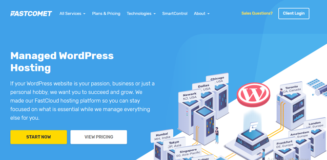 fastcomet managed wordpress hosting