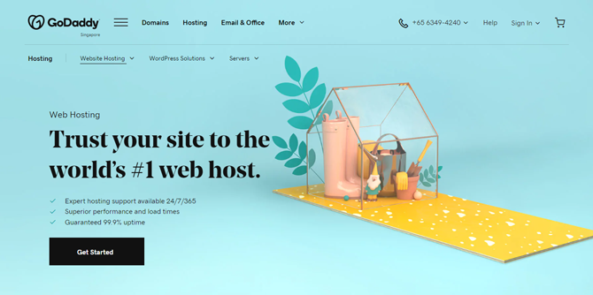 godaddy web hosting for small business