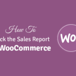 how to check the sales report in woocommerce