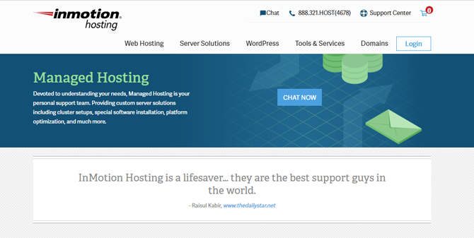 inmotion managed wordpress hosting