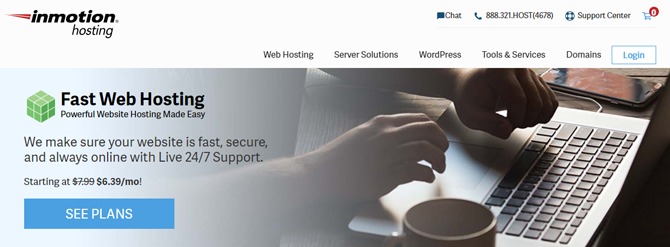inmotion web hosting for small business