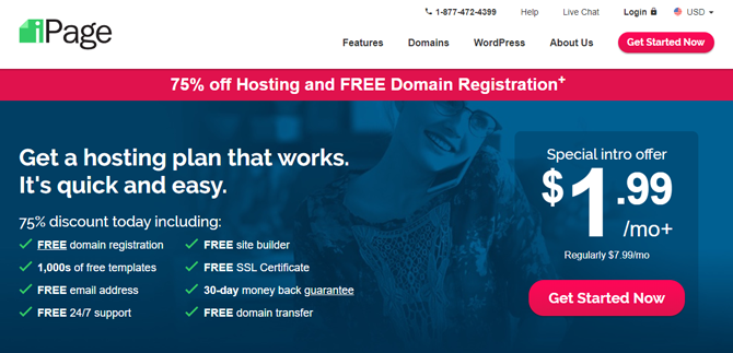 ipage web hosting for small business