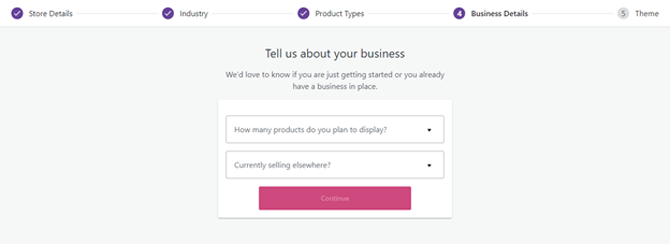 provide business details for woocommerce setup