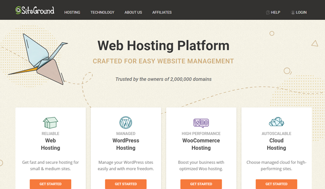 siteground web hosting platform overview