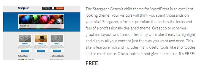 stargazer genesis child theme